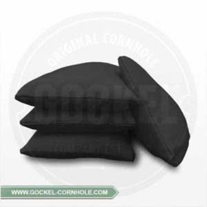 Set von 4 schwarzen Cornhole-Taschen, mit Maiskörnern gefüllt!