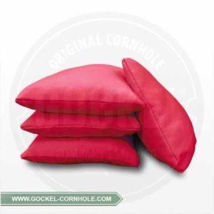 Set von 4 roten Cornhole-Taschen, mit Maiskörnern gefüllt!