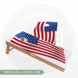 2 Cornhole Boards mit amerikanischer Flagge für jede Party!