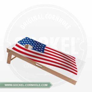 Cornhole Board mit amerikanischer Flagge für jede Party!