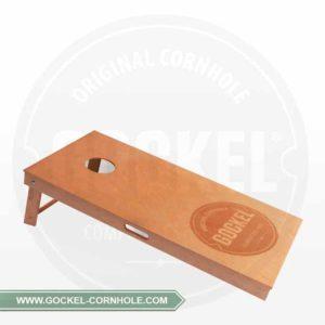 Corhole Board, geölt und mit einem gebrannten Gockel Logo!