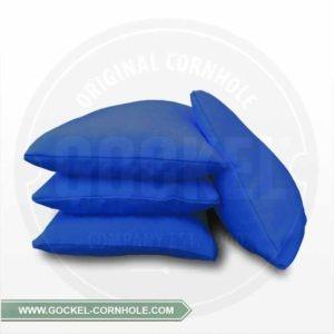 Set von 4 blauen Cornhole-Säckchen, mit Maiskörnern gefüllt!