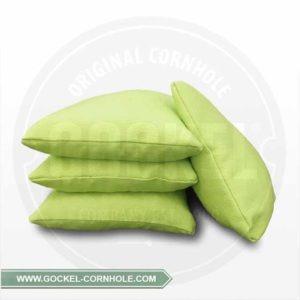 Set von 4 grünem Cornhole-Säckchen aus Canvas und mit Mais gefüllt!
