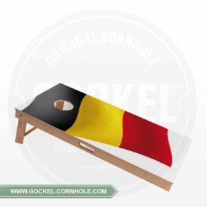 Cornhole Board mit belgischer Flagge print für jede Party!