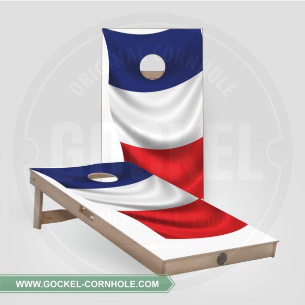 Cornhole Boards - französische Flagge