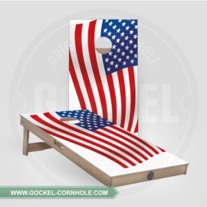 2 Cornhole Boards mit Amerikanische Flagge print für jede Party!