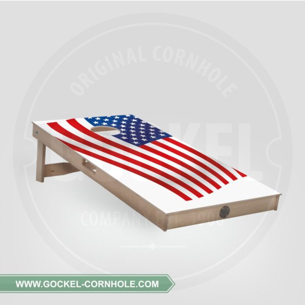 SINGLE - CORNHOLE BOARD AMERIKANISCHER FLAGGE