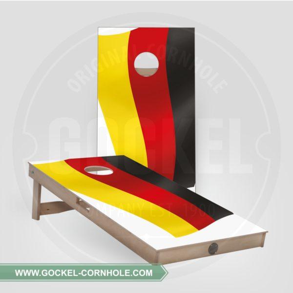2 Cornhole Boards mit deutscher Flagge print für jede Party!