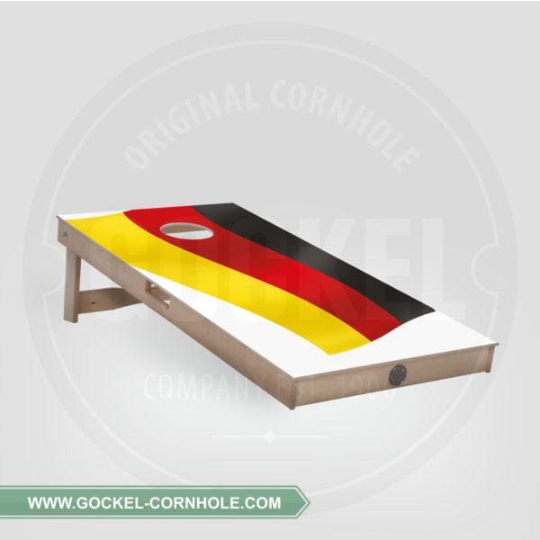 Single - Cornhole Board mit Flaggendruck