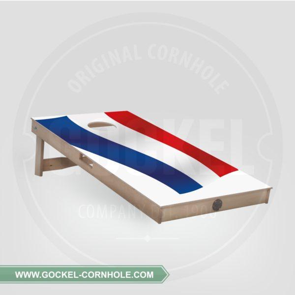 Cornhole Board mit Niederländische Flagge print für jede Party!