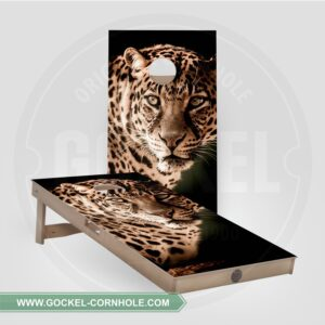 2 Cornhole Boards mit Leopard print!