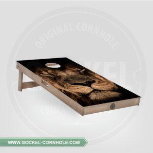 Cornhole Board mit Löwe print.