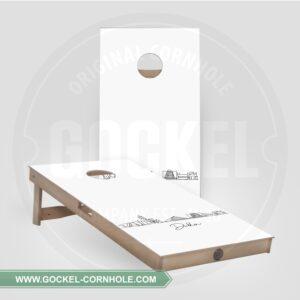 2 Cornhole Boards mit Skyline print von Dublin!
