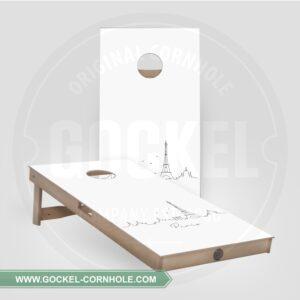 2 Cornhole Boards mit Skyline print von Paris!