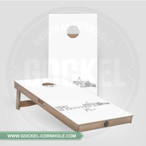 2 Cornhole Boards mit Skyline print von Rom!
