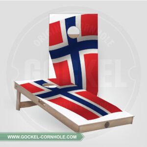 CORNHOLE BOARDS - NORWEGISCHE FLAGGE