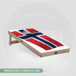 CORNHOLE BOARD - NORWEGISCHE FLAGGE