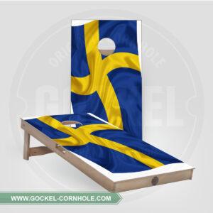 CORNHOLE BOARDS - SCHWEDISCHE FLAGGE